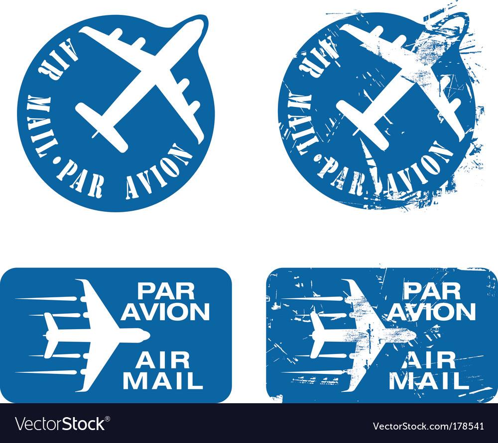 Par avian rubber stamp vector image