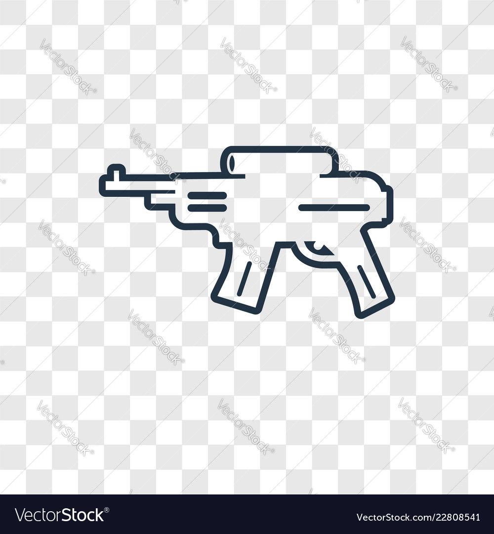 Rifle concept linear icon isolated on transparent