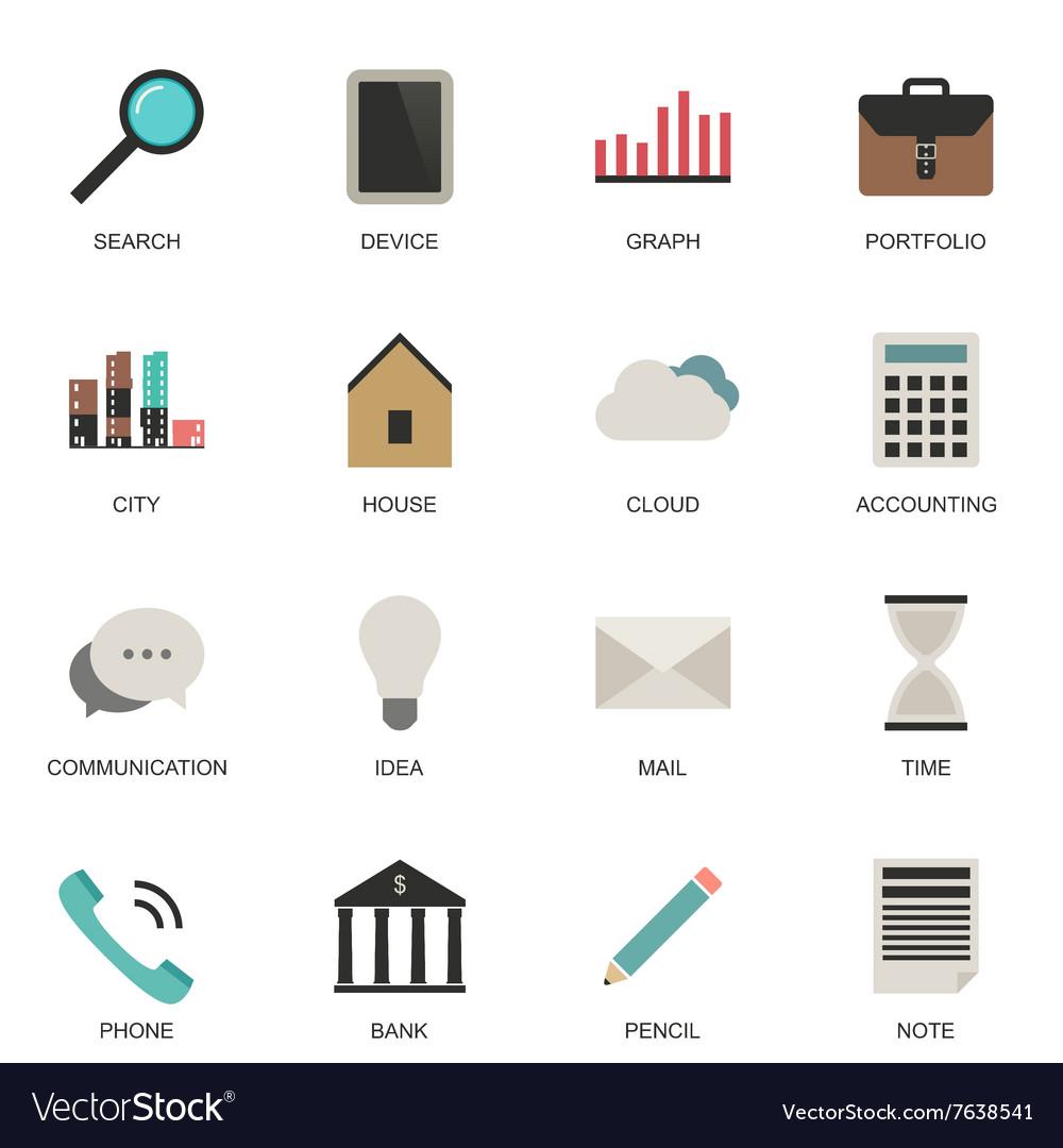 Set flat style icons