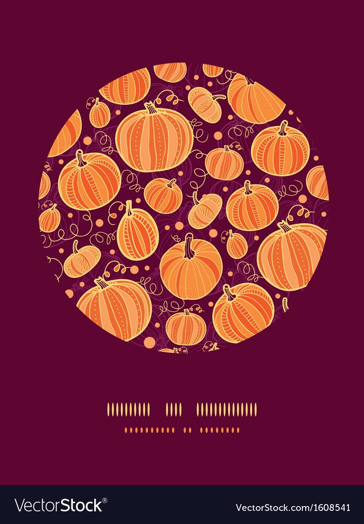 Thanksgiving pumpkins circle decor pattern