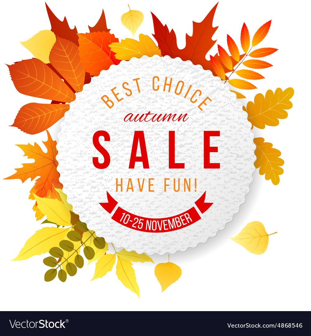 Autumn sales banner