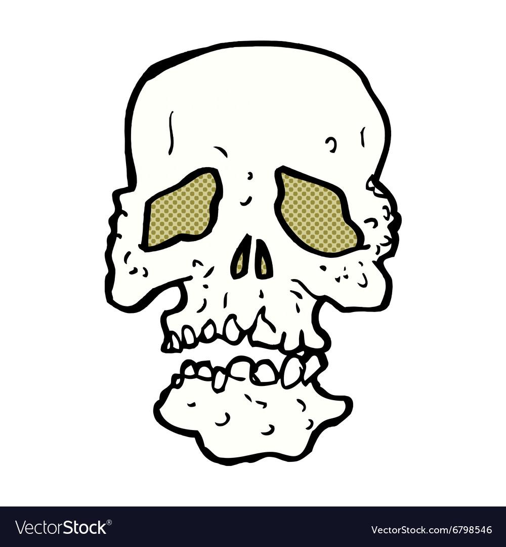 Comic cartoon skull