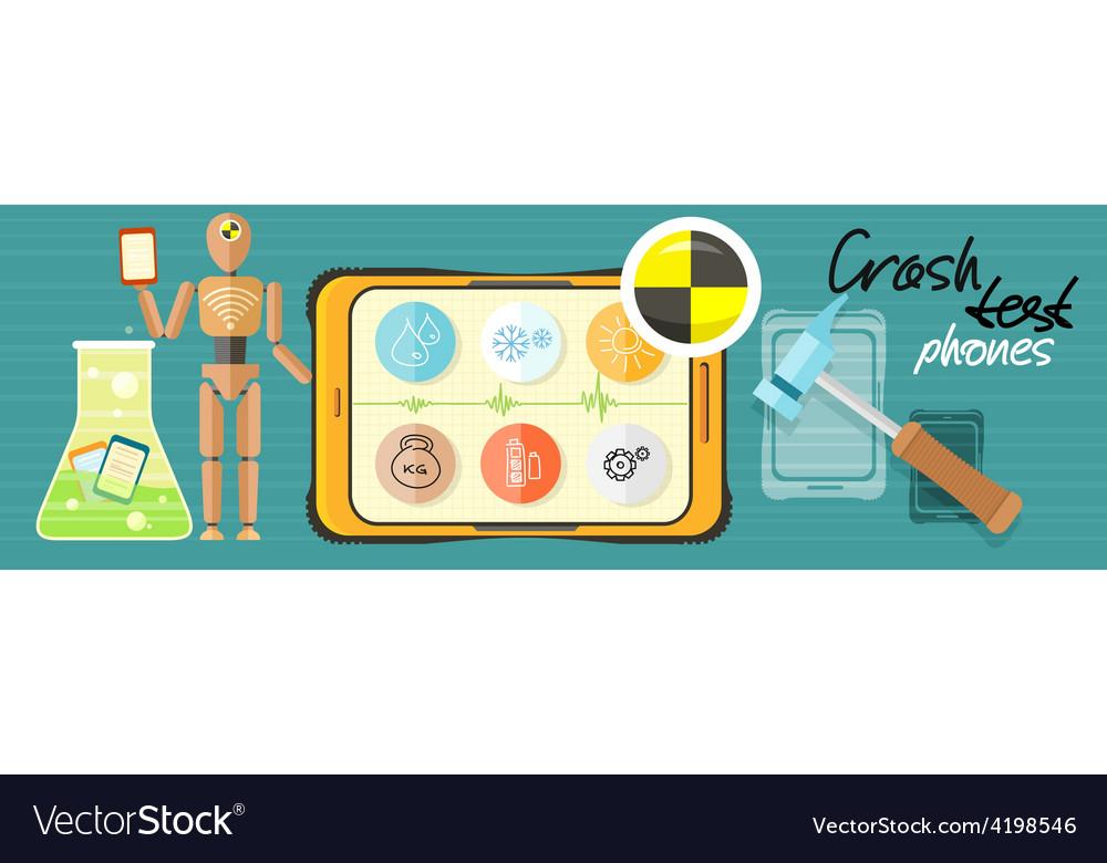 Crash test phones vector image