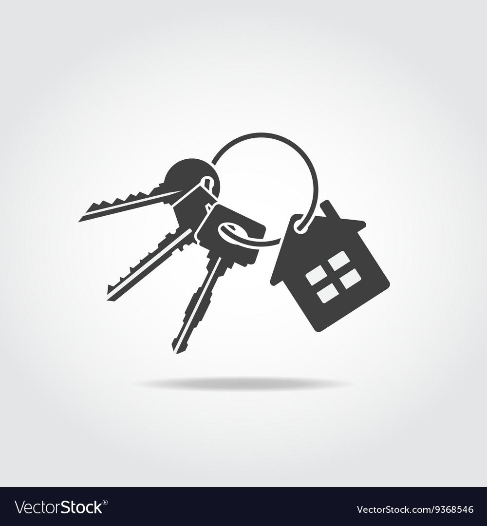 Keys Trinket Black Icon vector image