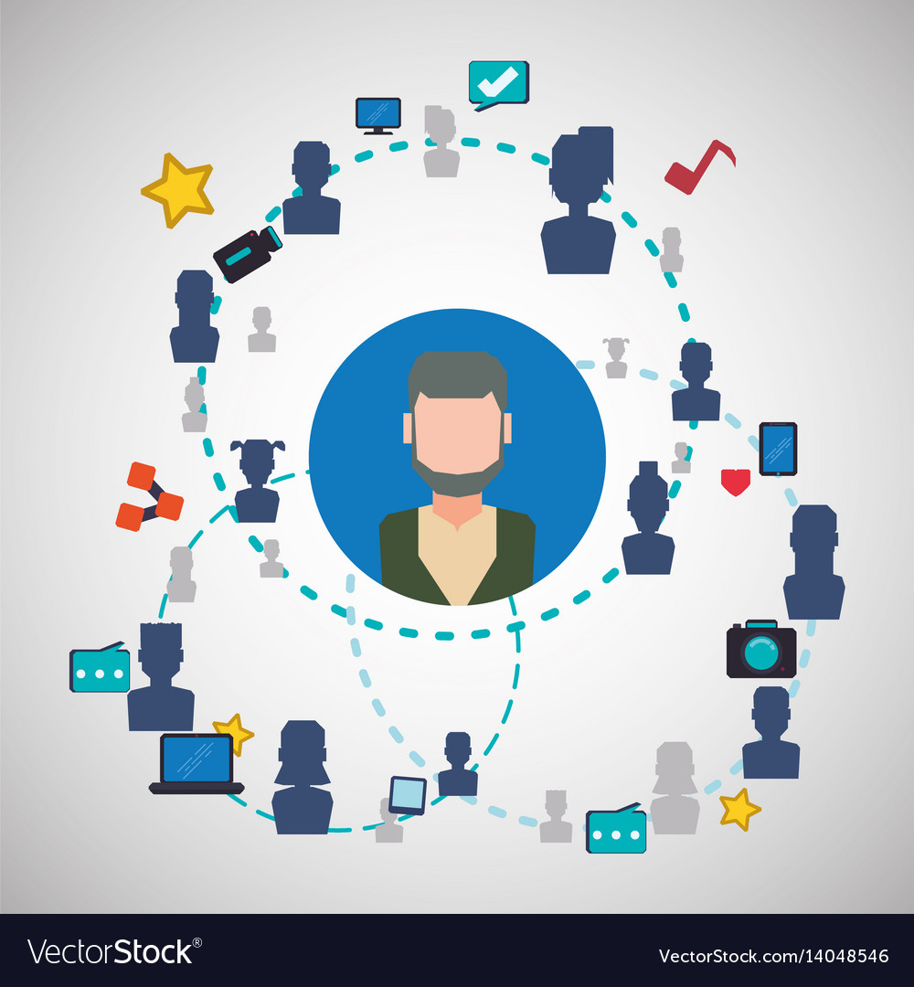 Social network design social media icon isolated