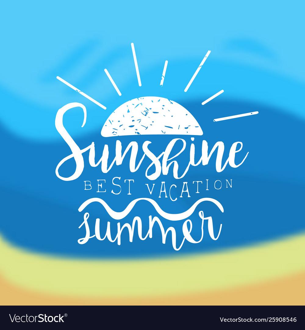 Sunshine summer best vacation template design