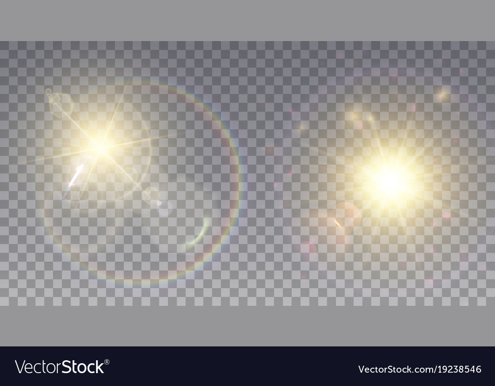 Two realistic lens flare effects