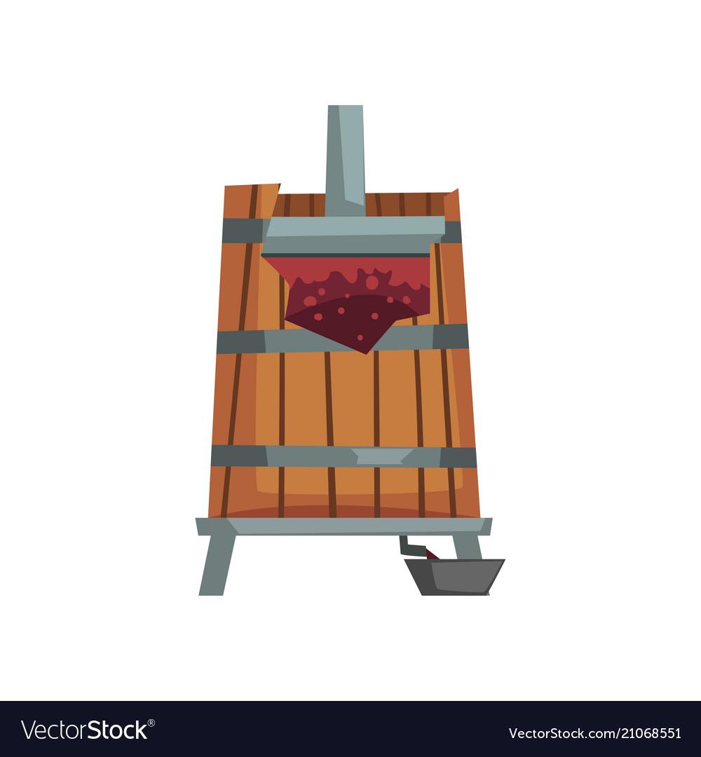 Grape press wine production process