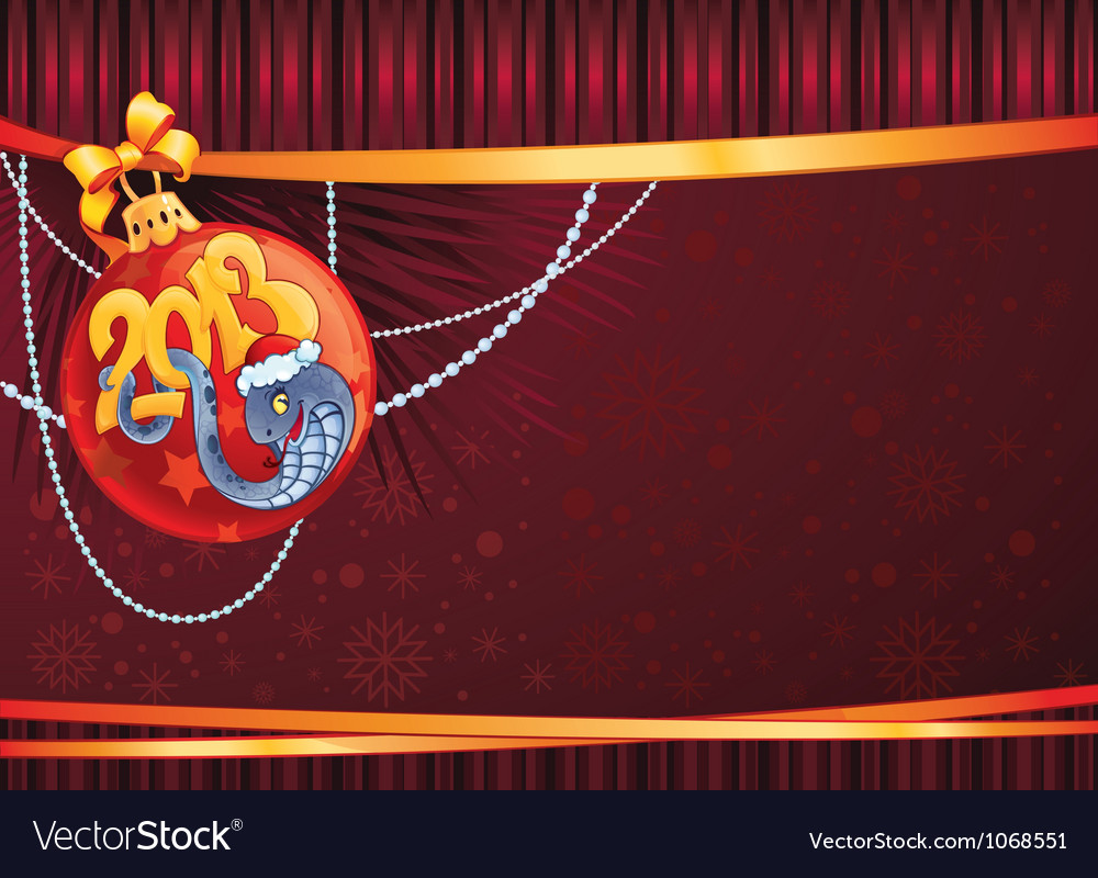 Snake The symbol of New Year 2013 vector image