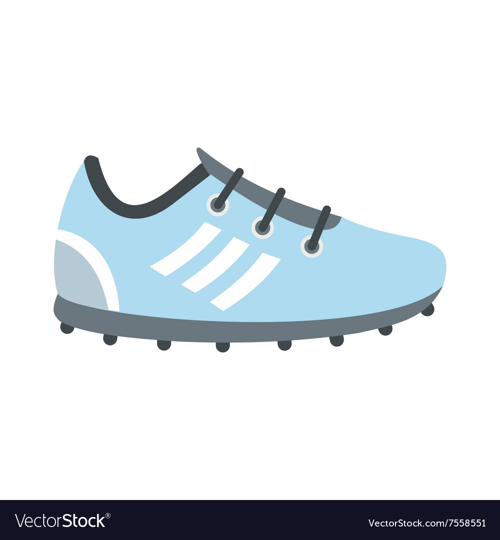Soccer shoes flat icon