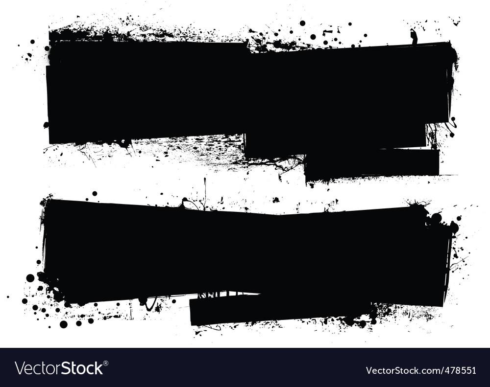 Splat roller banners vector image