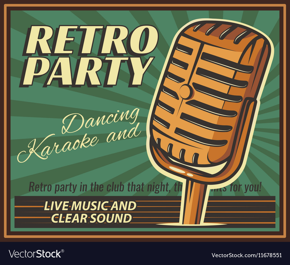 Vintage banner retro party