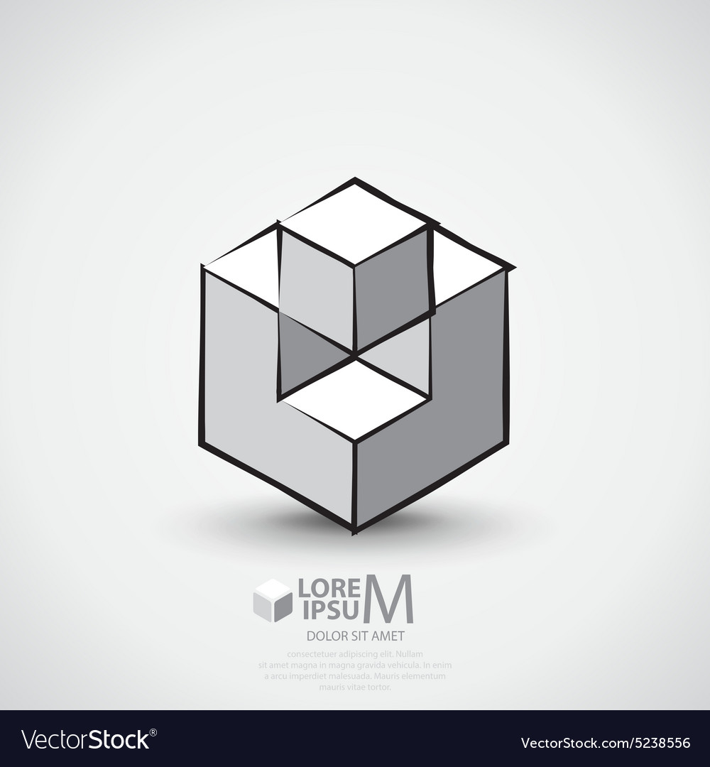 Cube outlined logo
