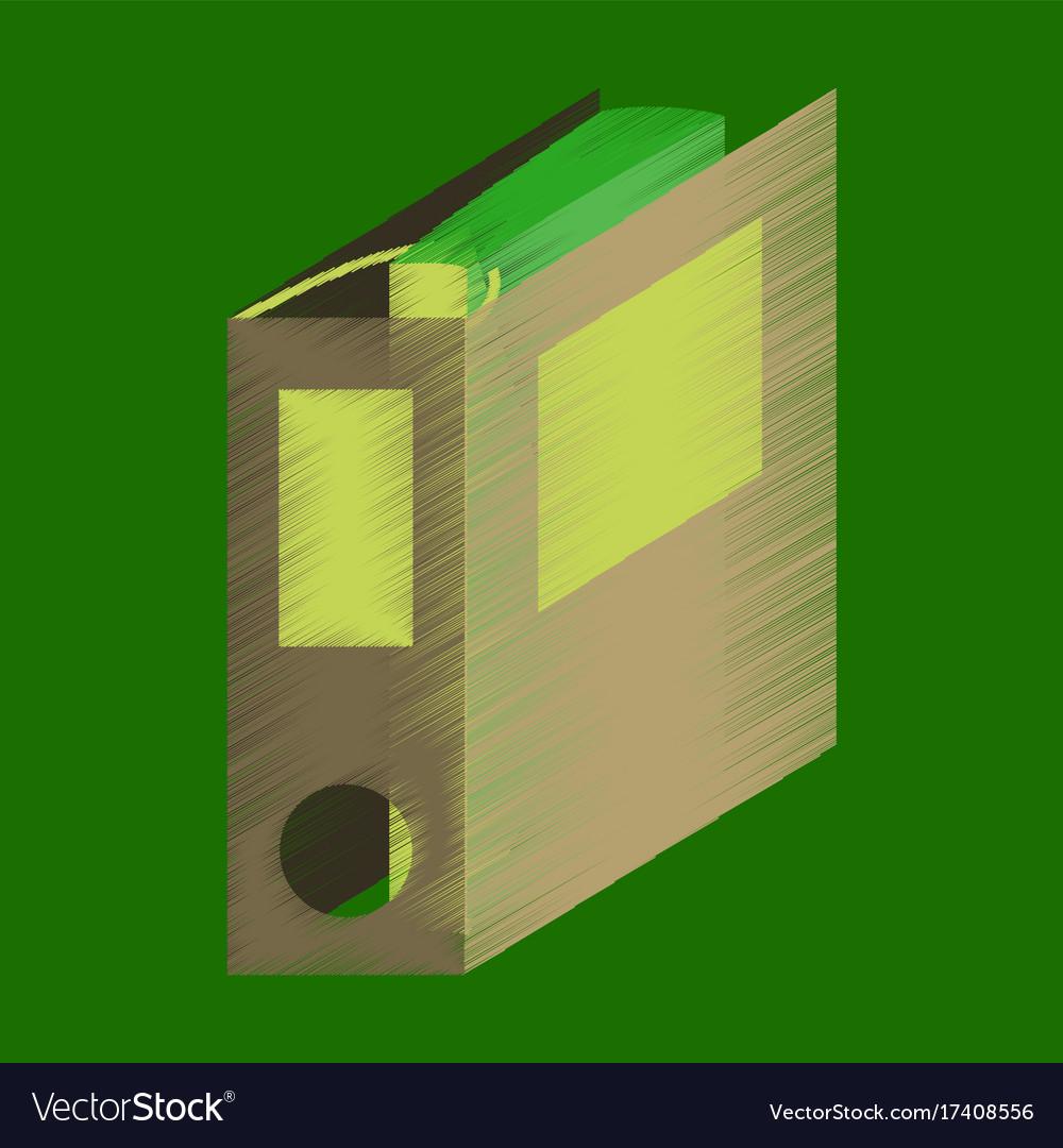 Flat shading style icon folder for documents