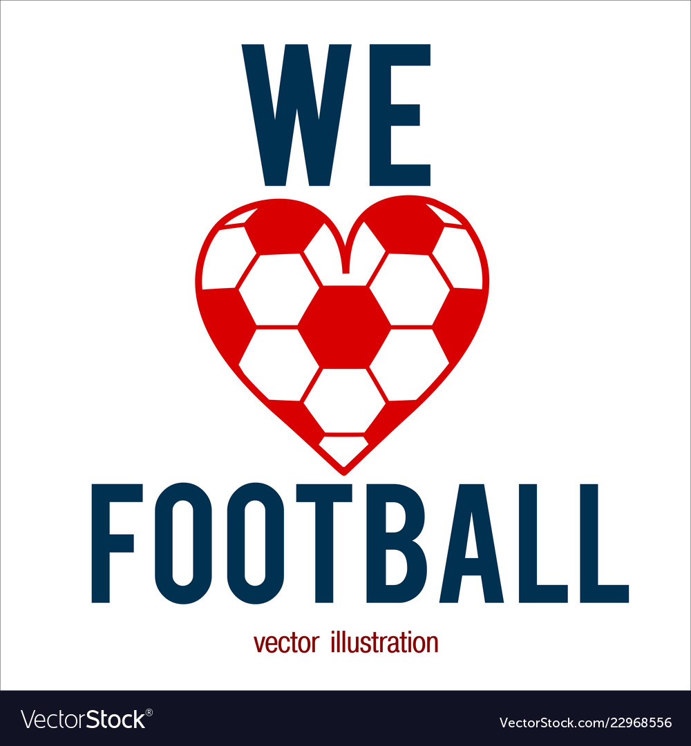 Football abstract background heart design like