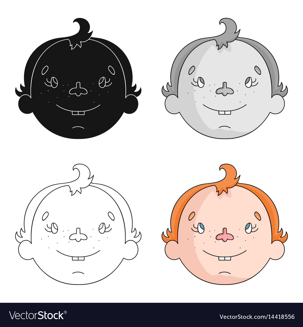 Son icon in cartoon style isolated on white vector image