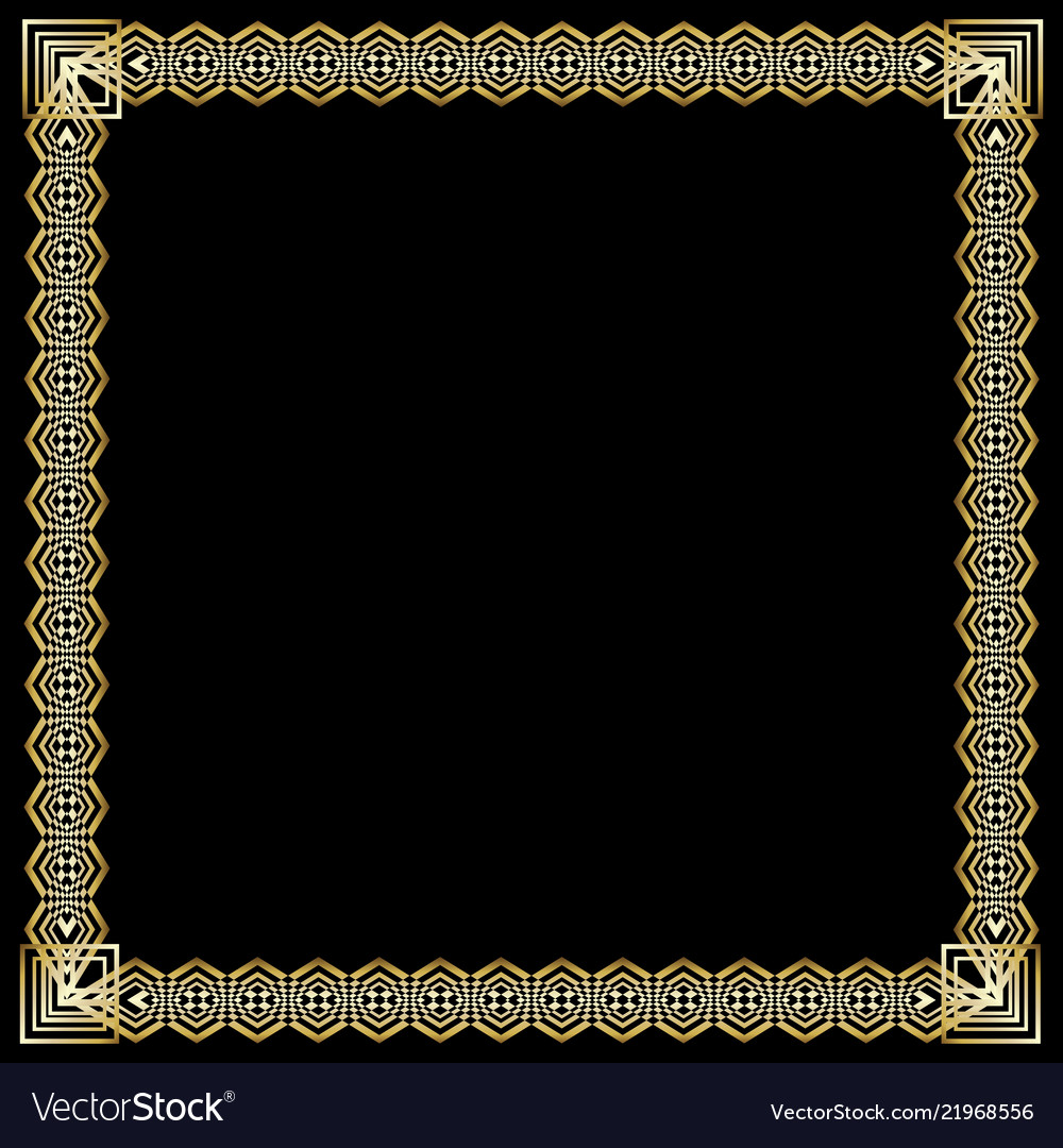 Square frame with 3d embossed effect ornate