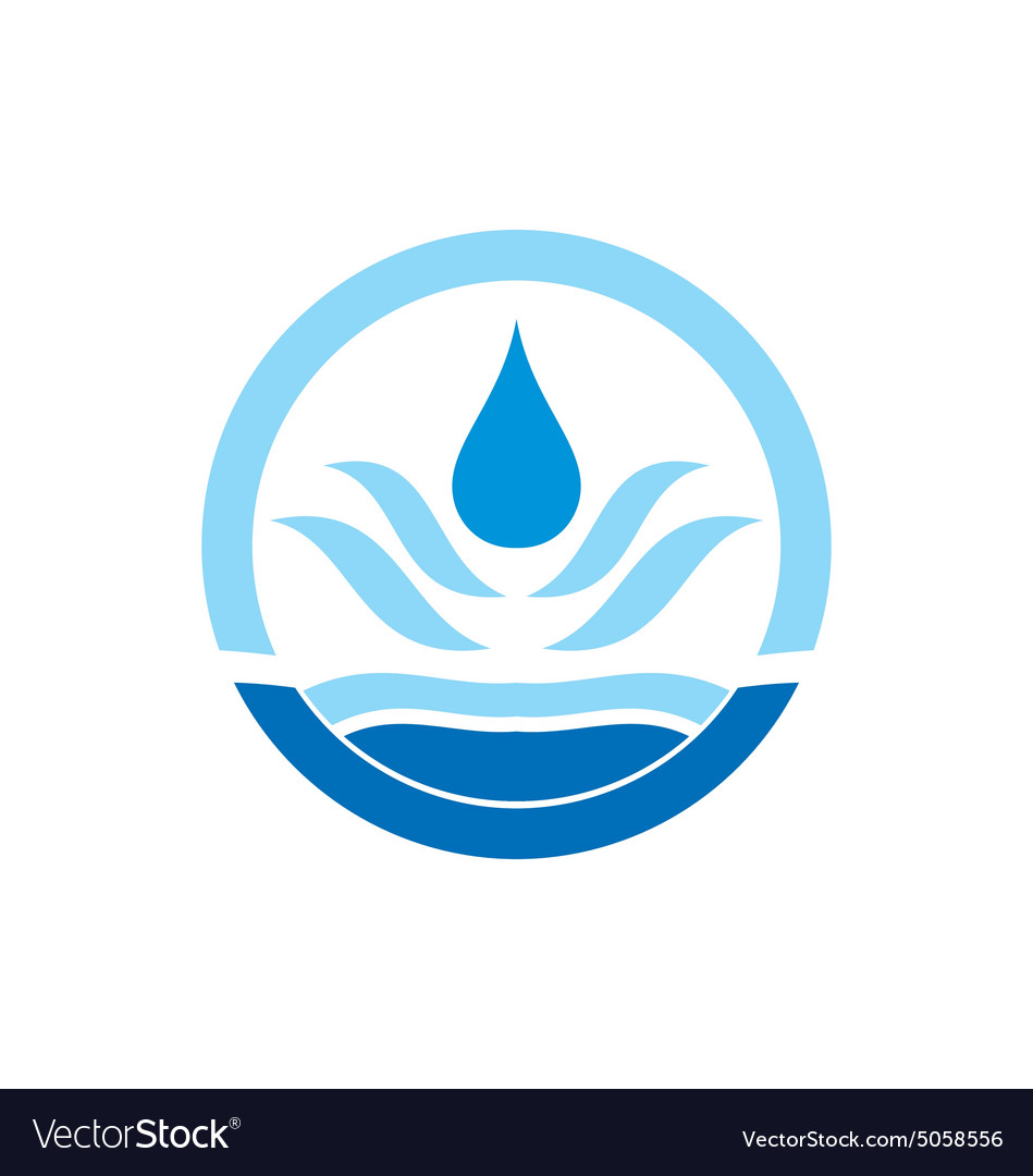 water drop icon circle logo royalty free vector image