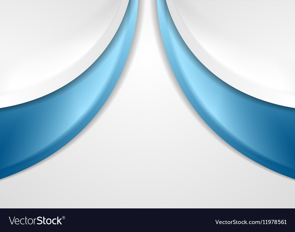 Abstract blue and grey wavy background vector image