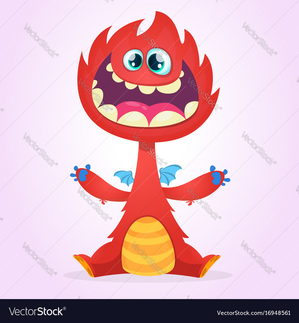 Cartoon dragon monster
