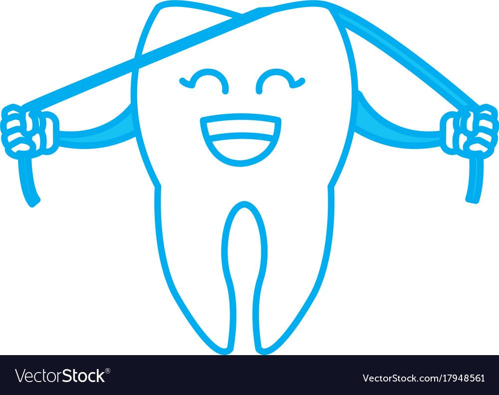 cute tooth cartoon royalty free vector image vectorstock