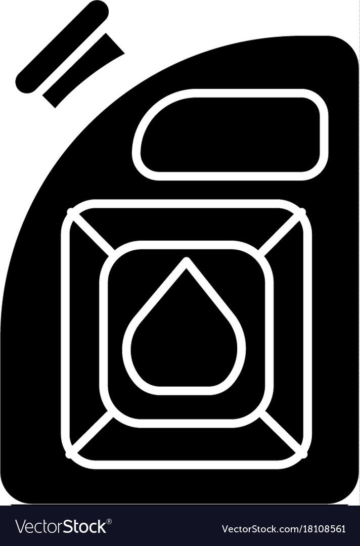 Fuel auto icon black sign on vector image