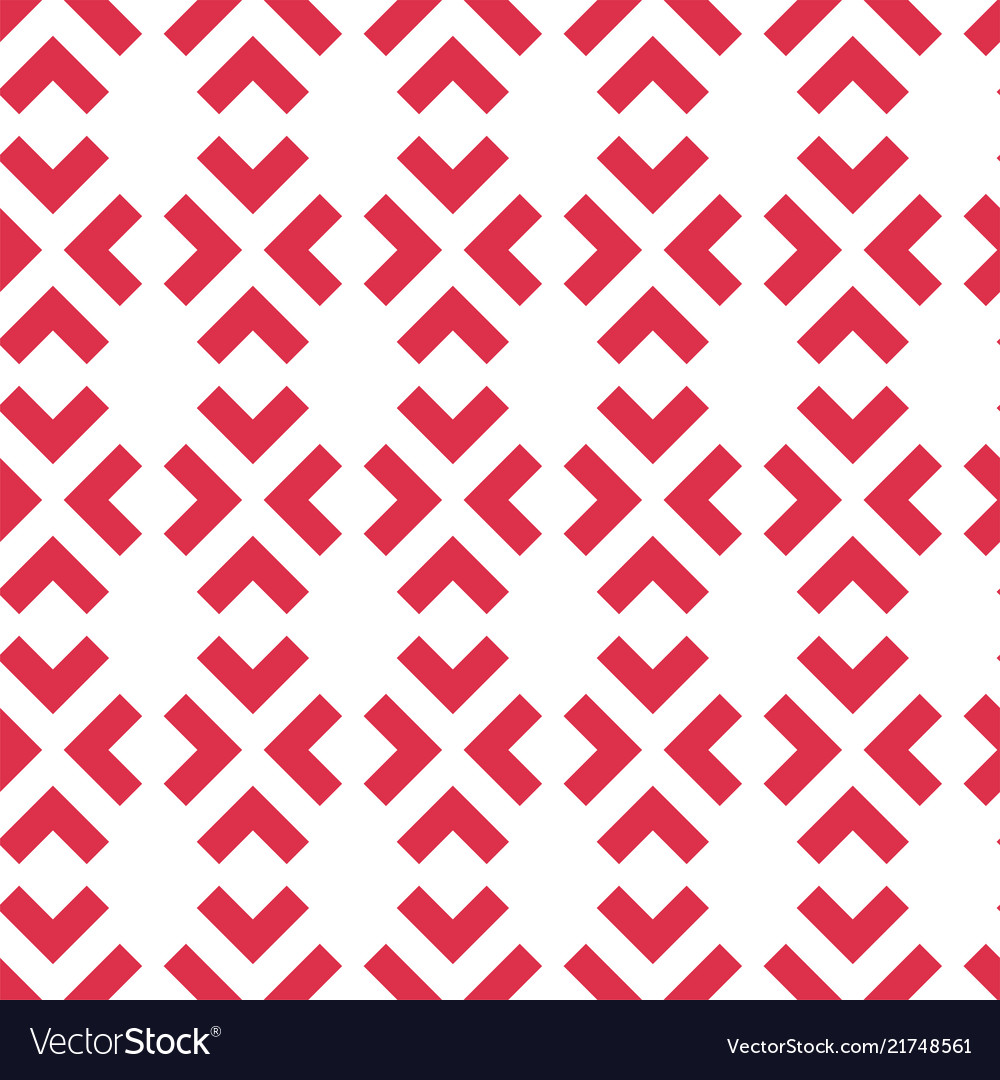 Geometric seamless pattern with red arrows