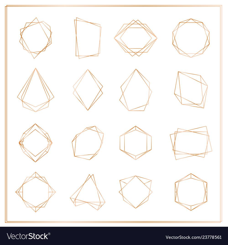 Gold segments frames set