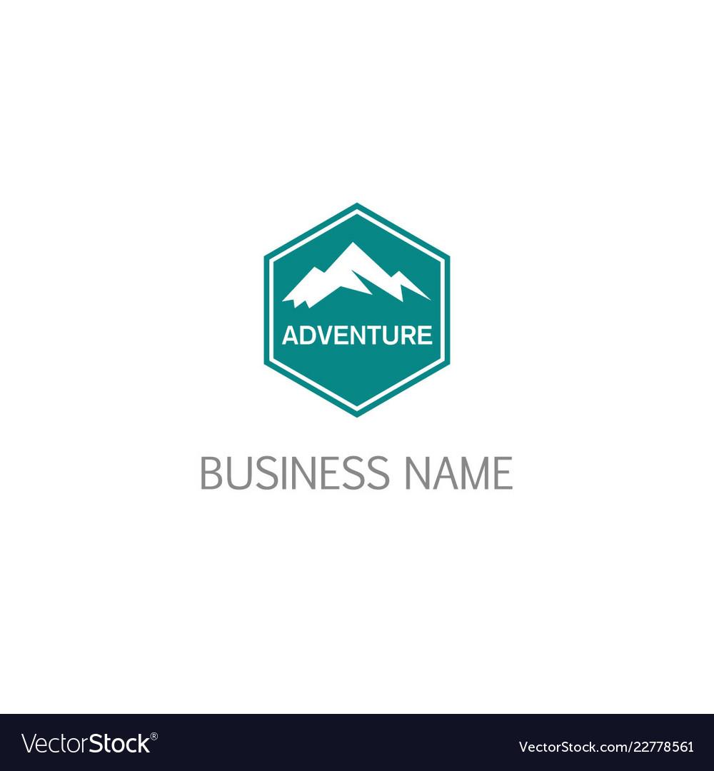Mountain emblem adventure logo