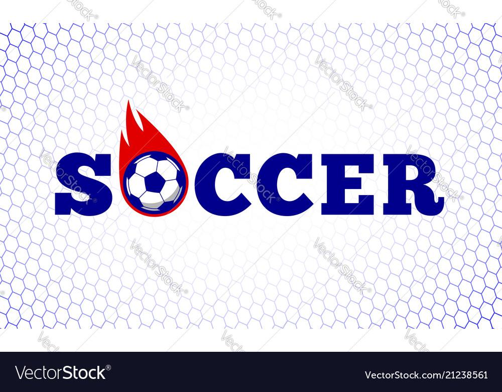 Soccer football sport game fire ball design on