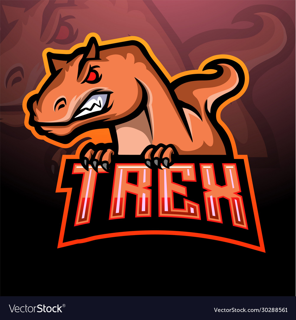 T-rex mascot esport logo design
