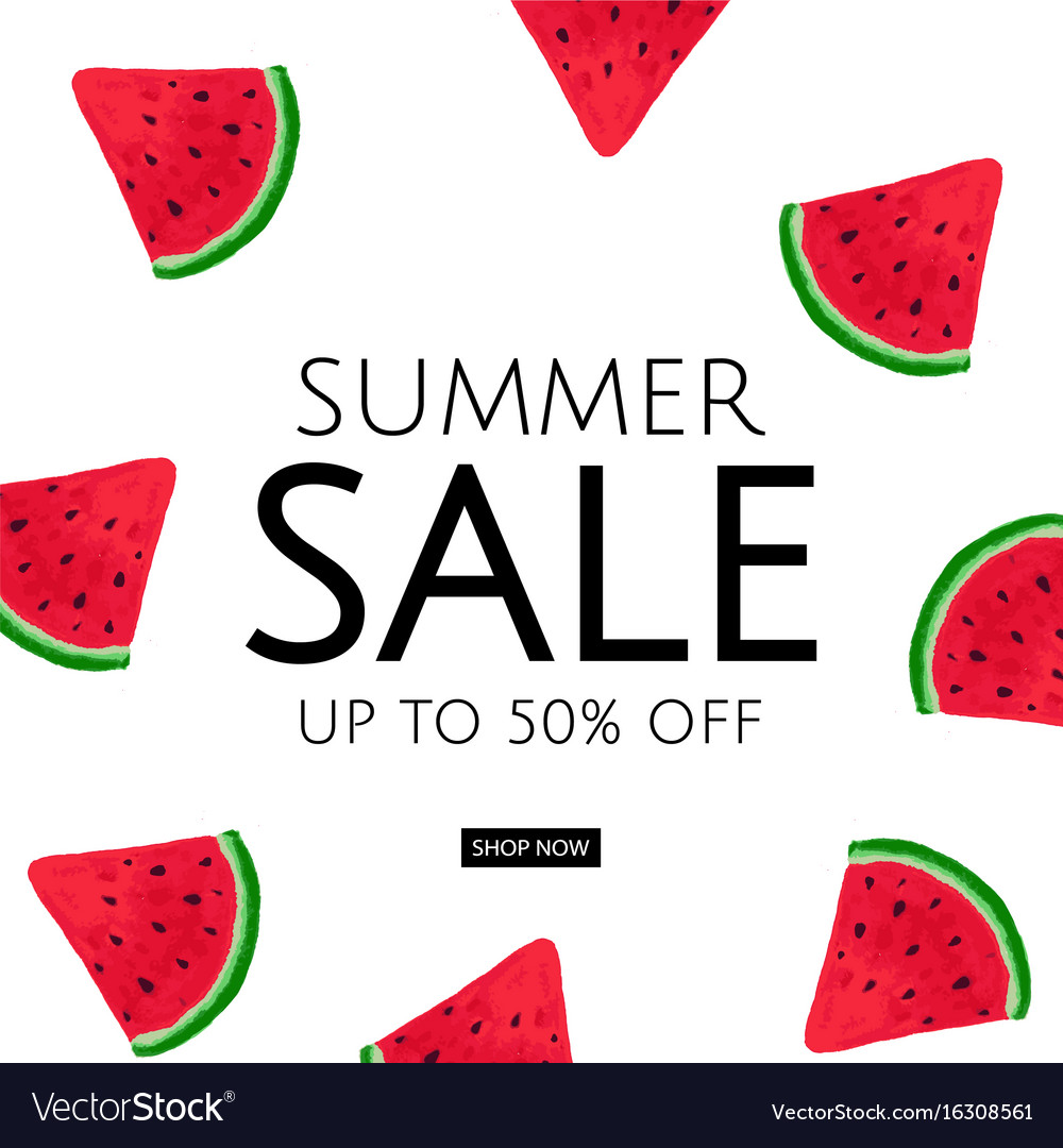 Watermelon summer sale poster