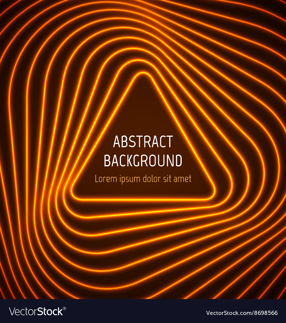Abstract orange triangle border background with