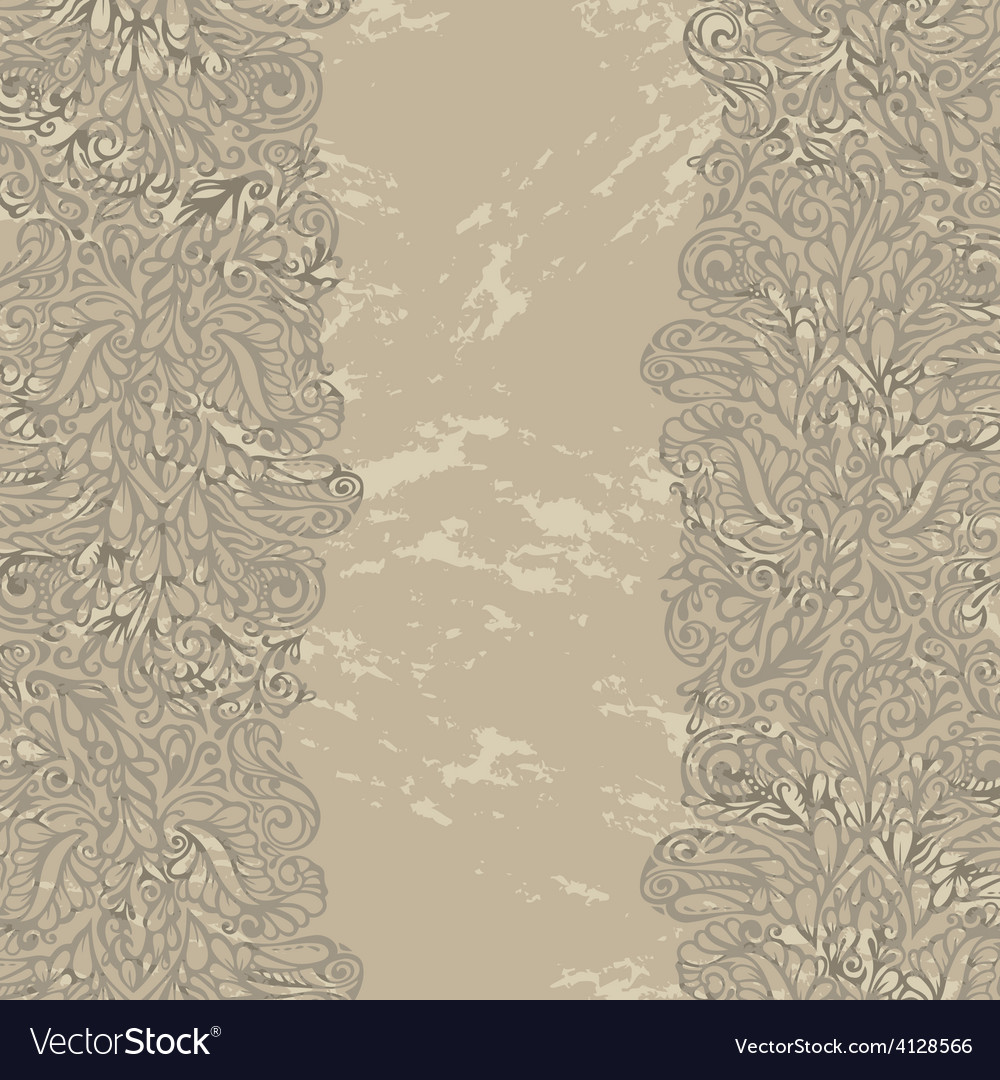 Floral design border in renaissance style vector image