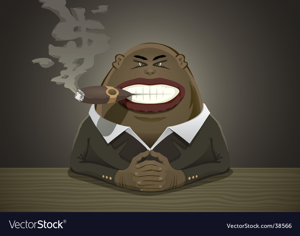 Mafia boss vector image