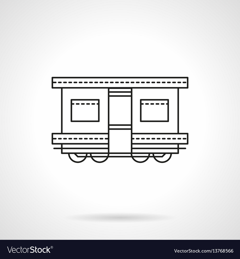 Railroad transport flat line icon