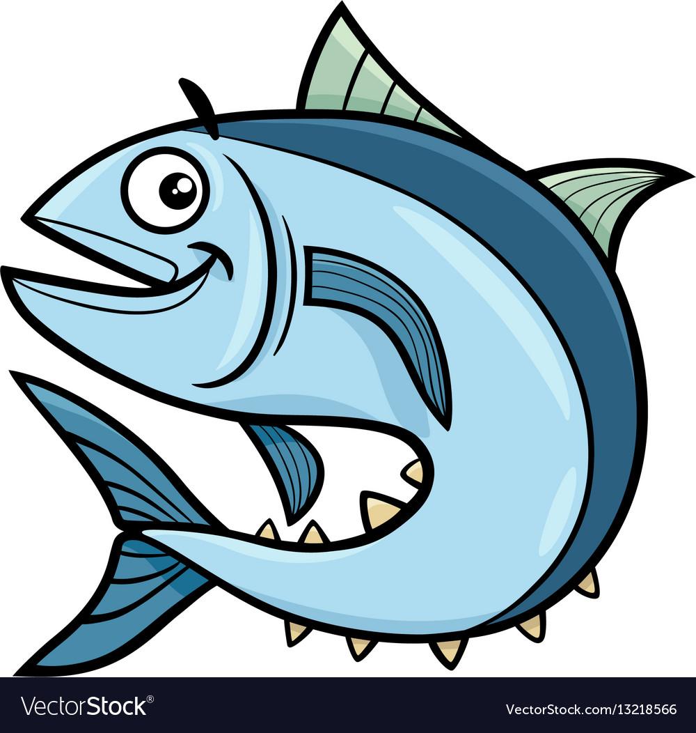 Tuna Fish Cartoon Character Royalty Free Vector Image