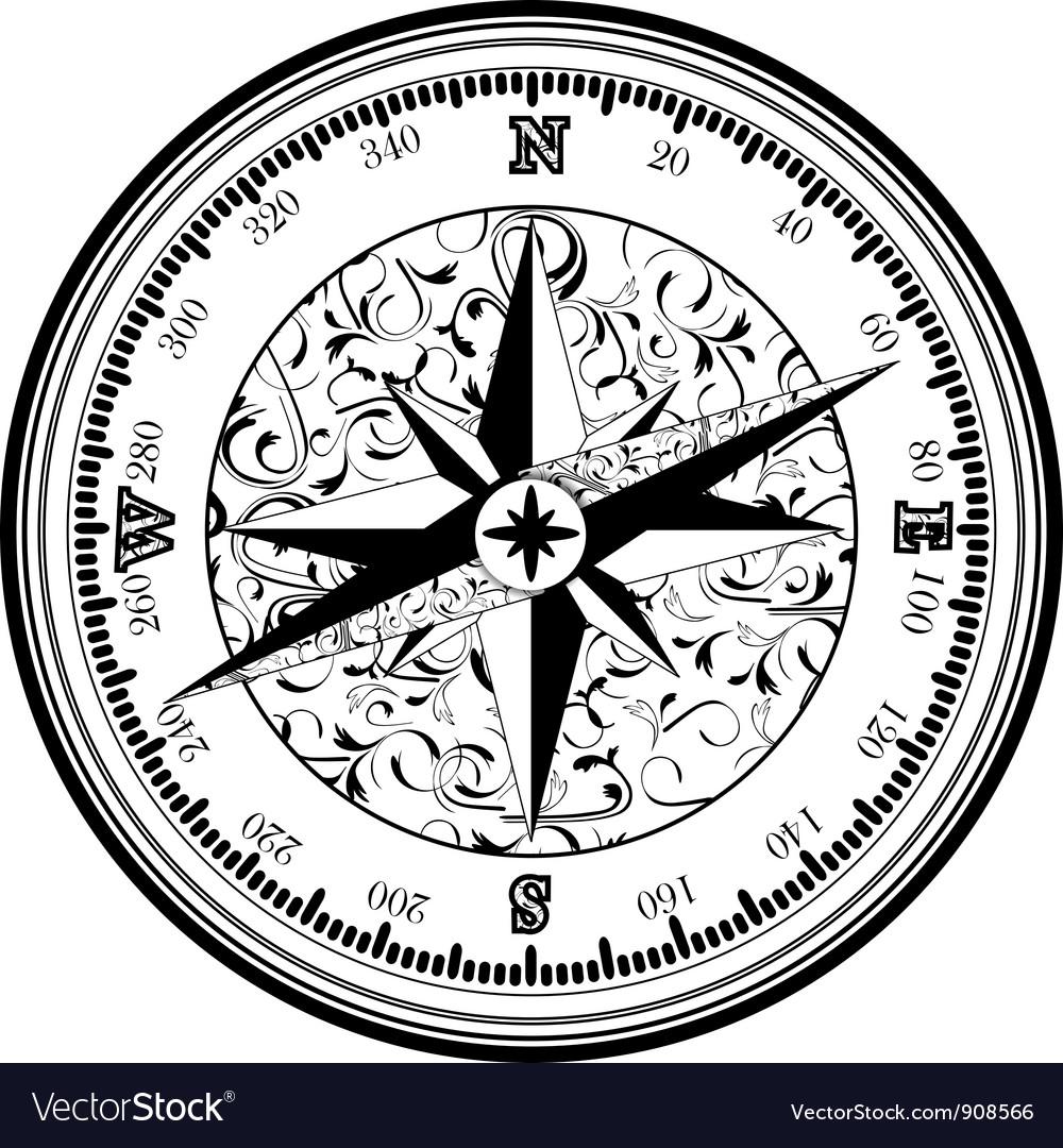 Vintage antique compass
