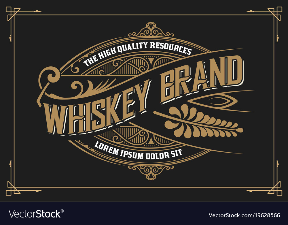 vintage design whiskey label style royalty free vector image