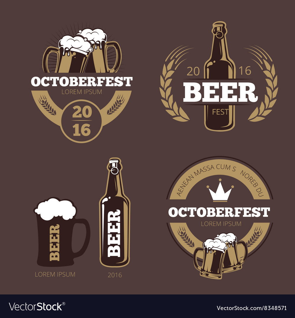 beer label templates for beer house brewing vector image
