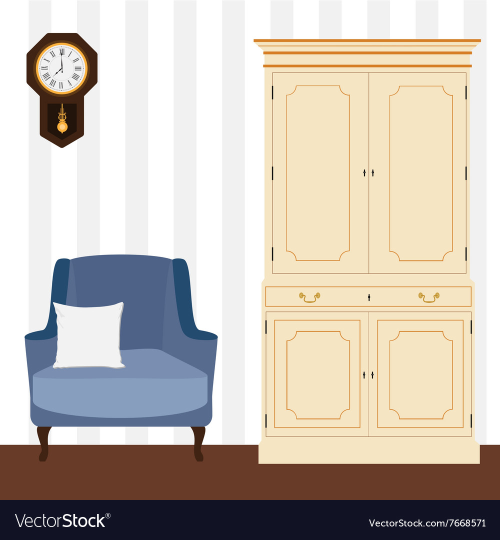 Cabinet and armchair