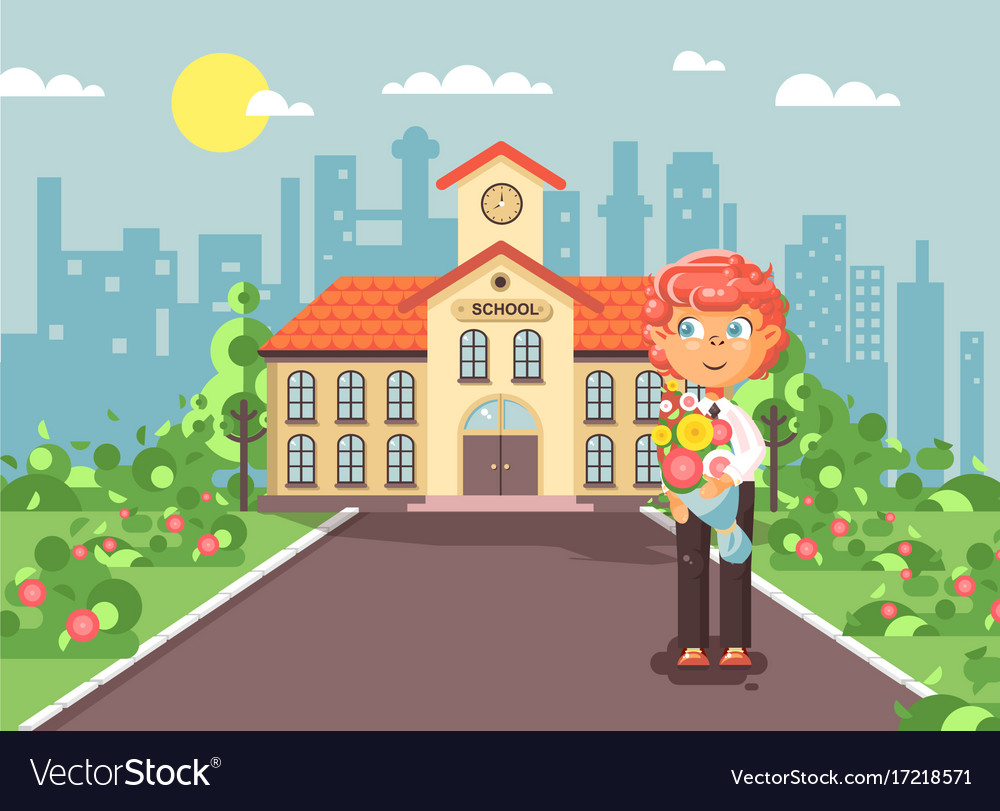 Cartoon character child lonely vector image