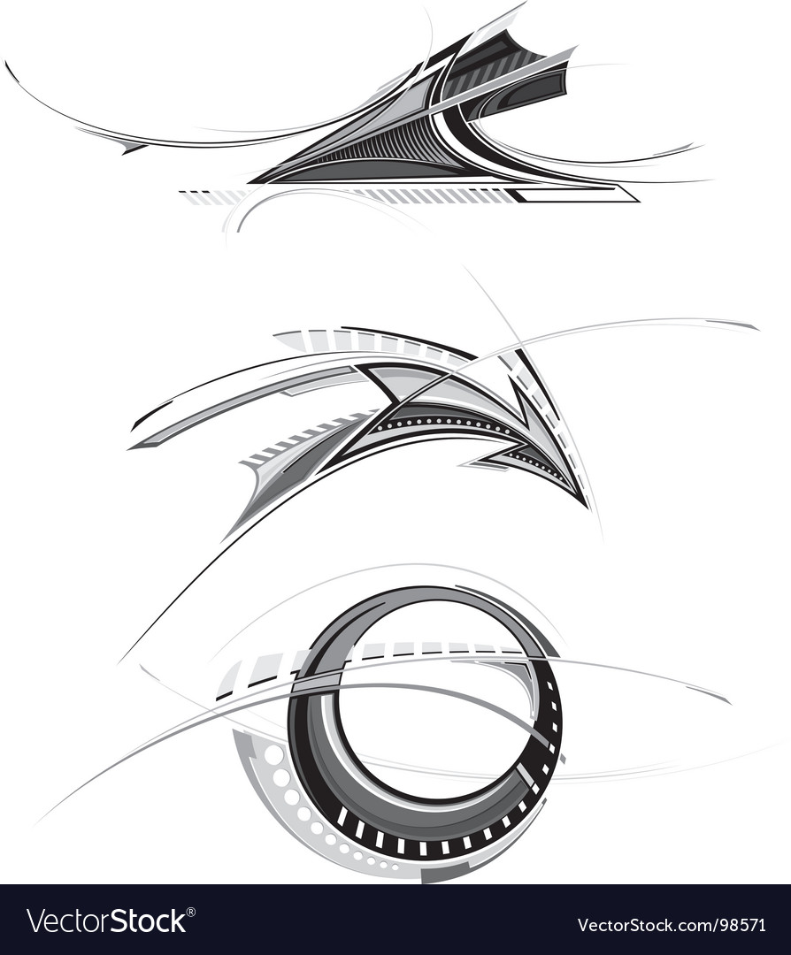 Design objects vector image