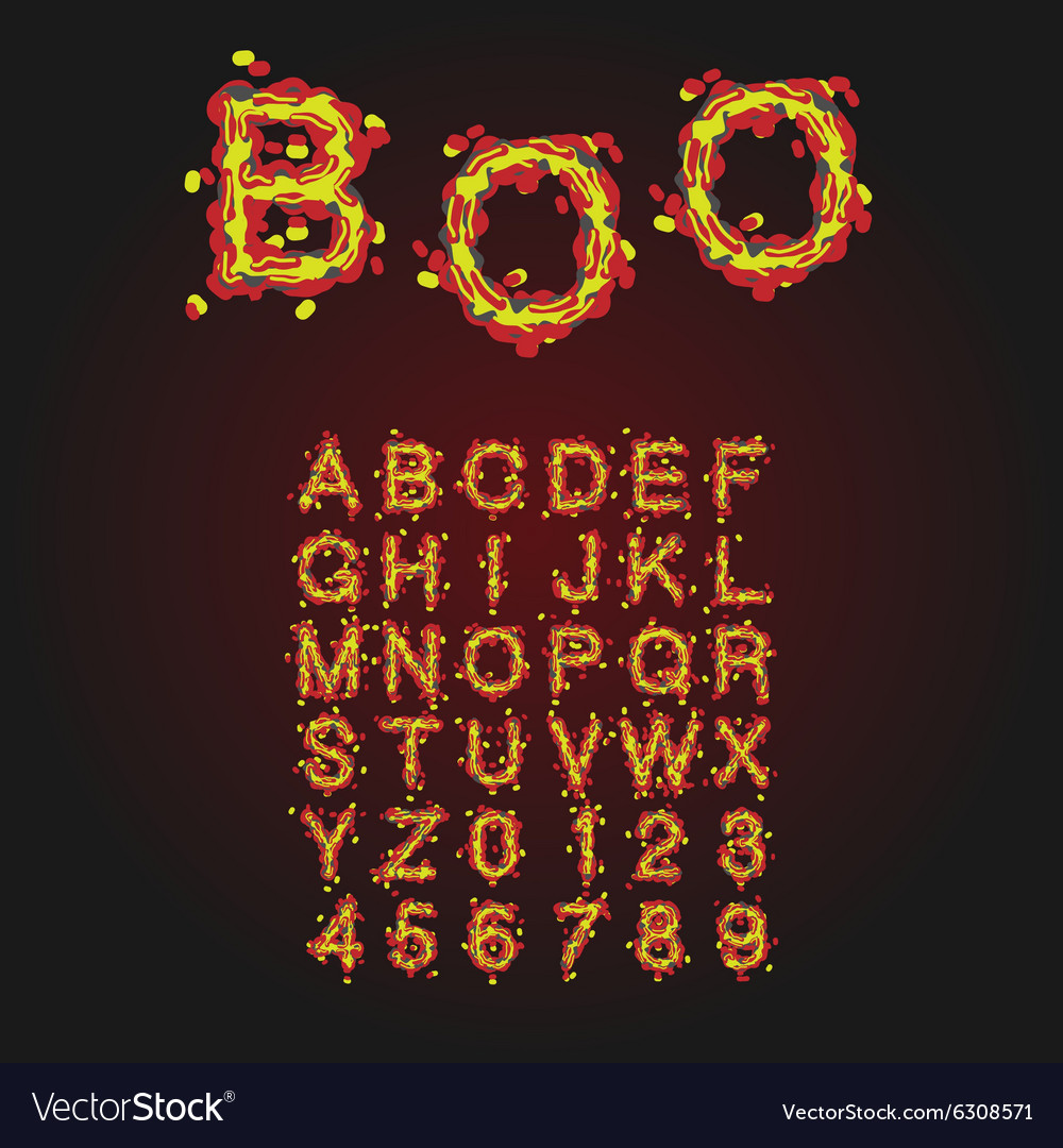 Halloween Style Typeface Uppercase Letters And
