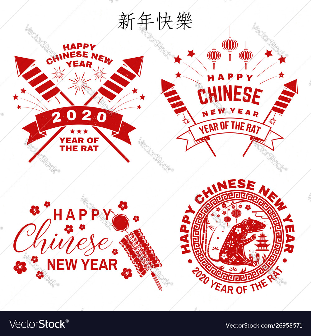 Design Chinese New Year Vector Image