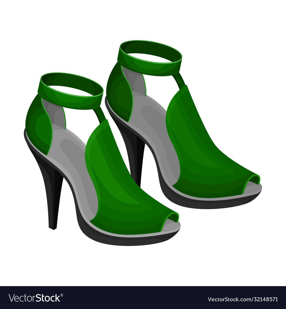 green open toe shoes