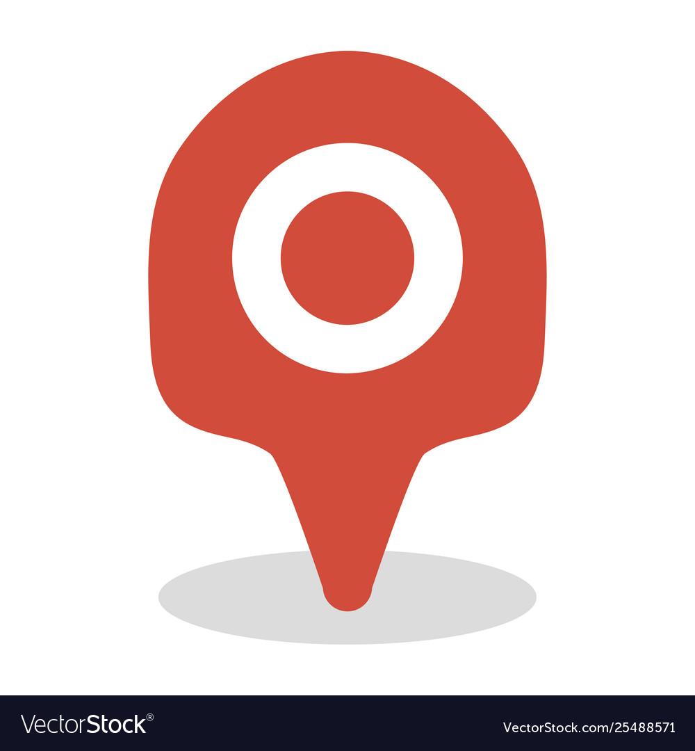 Map location icon gps travel marker design