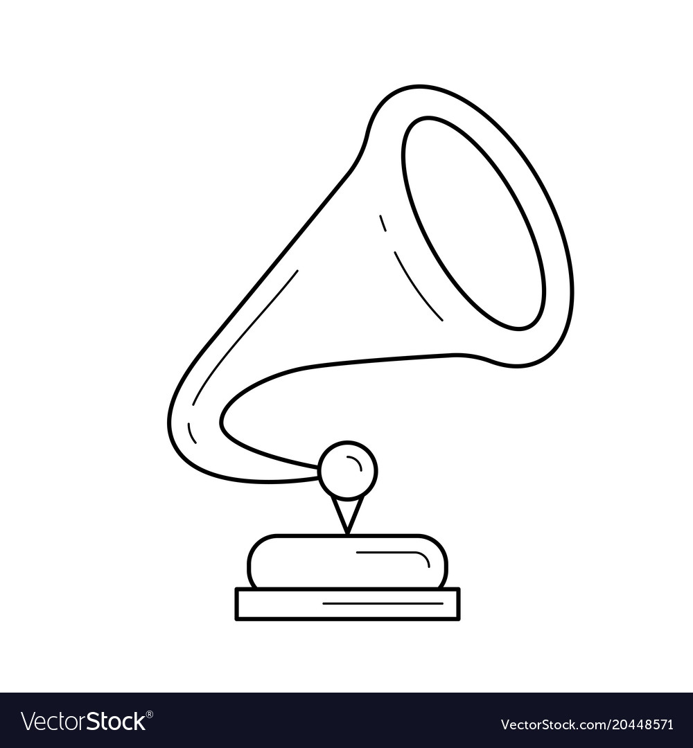 Phonograph line icon vector image