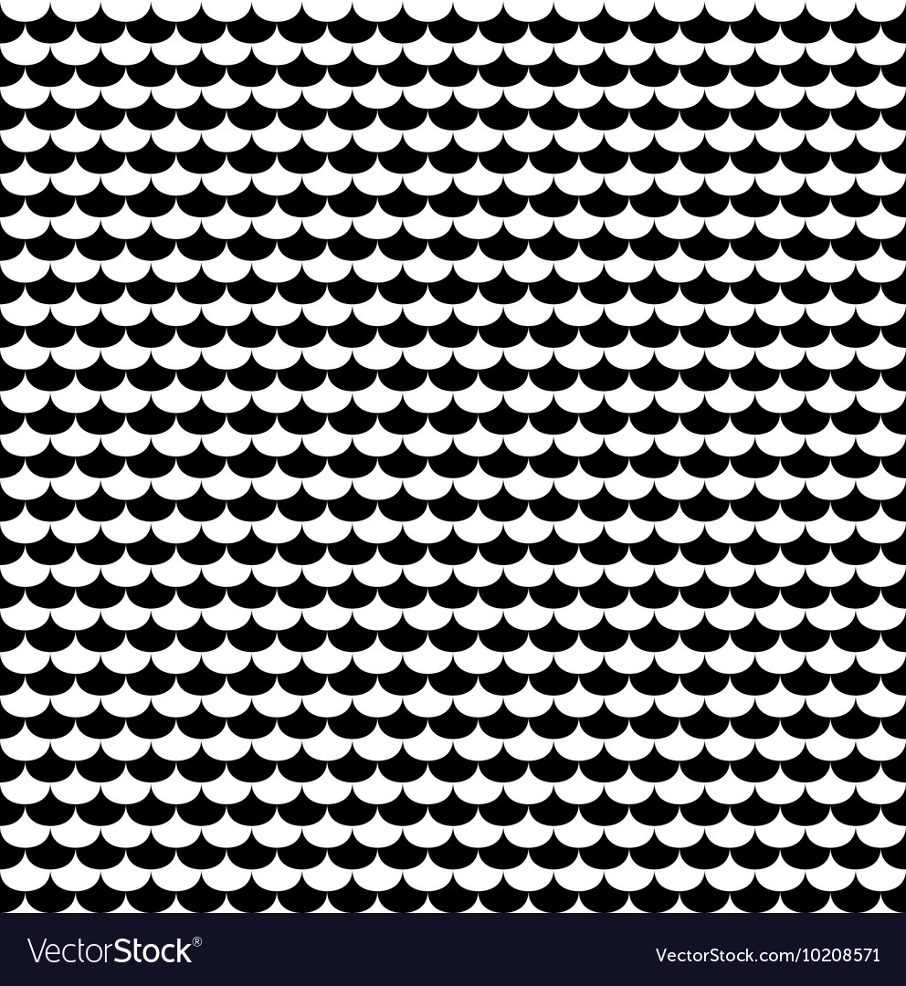 Scales seamless pattern in black and white