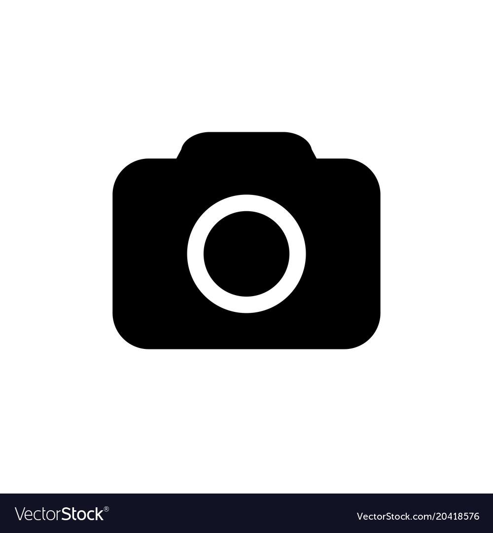 camera icon in flat style royalty free vector image rh vectorstock com vector camera logo vector camera outline